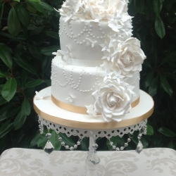 2 tier Twenties inspired Rose cascade