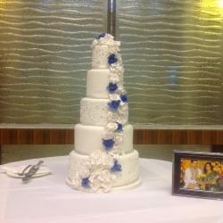 Five tier cake, flowers, wedding cake