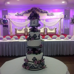 wedding cake, tiers, cake detail, flowers