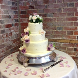 Three tier cake, petals, wedding cake