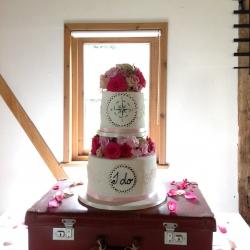 petals, wedding cake, flowers, pink, white