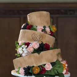 Enchanted forest, cake, bark, wedding cake, three tier cake
