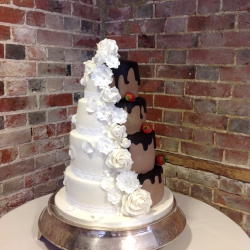 Four tier cake, wedding cake