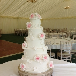 Summer 5 tier with delicate summer roses