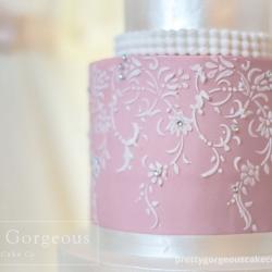 Cake lace pattern, detail, wedding cake
