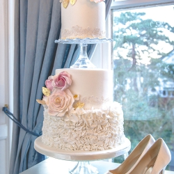 Three tier cake, wedding cake,