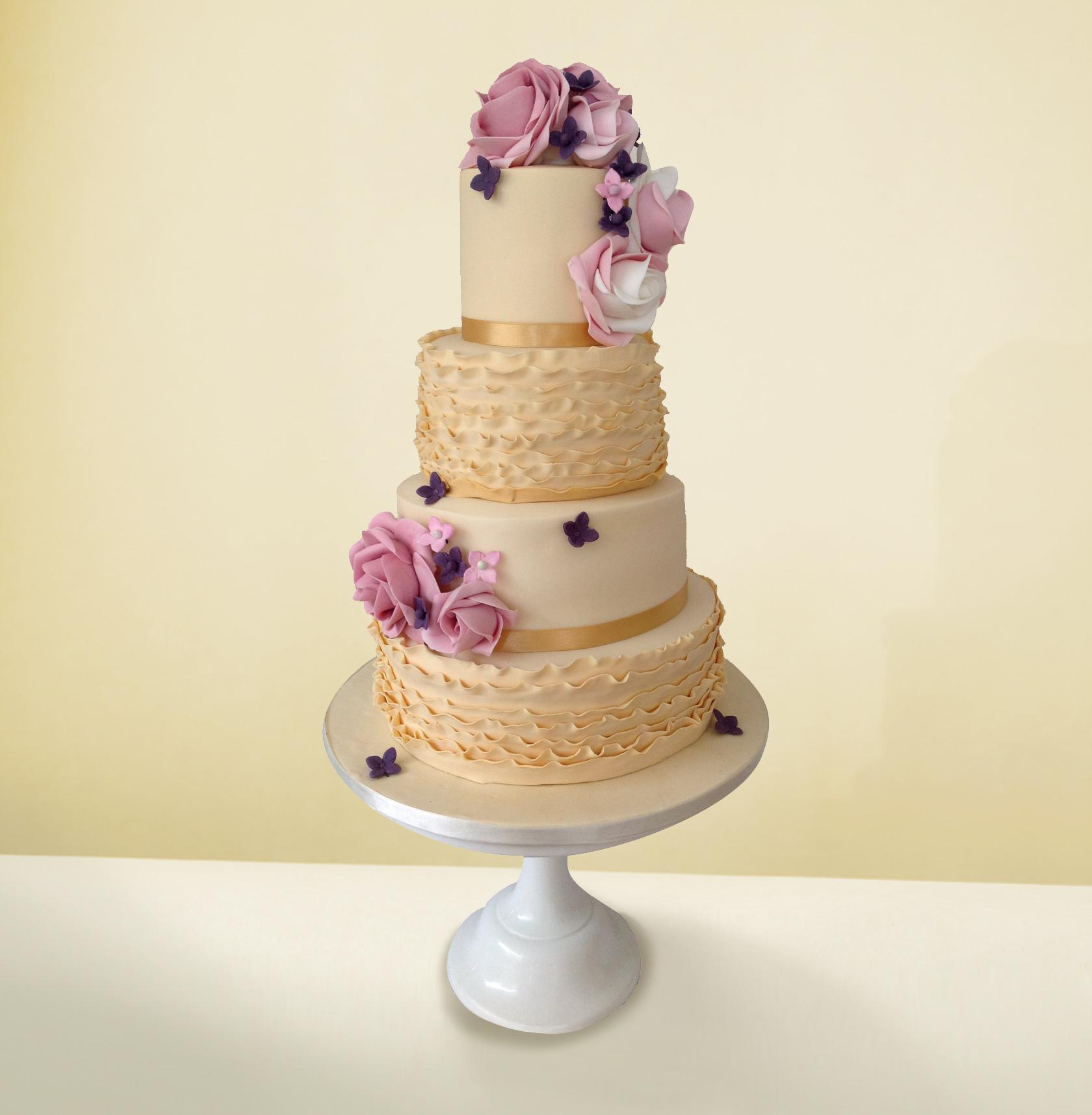 Creme Wedding Cake