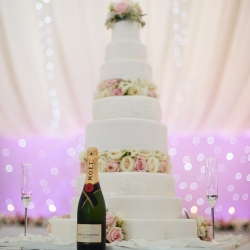 wedding cake, flowers, sparkle, tiers