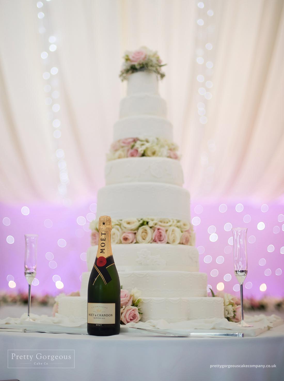 wedding cake, flowers, sparkle, tiers