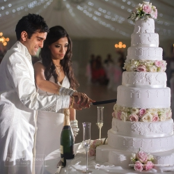 Cake cutting, wedding cake