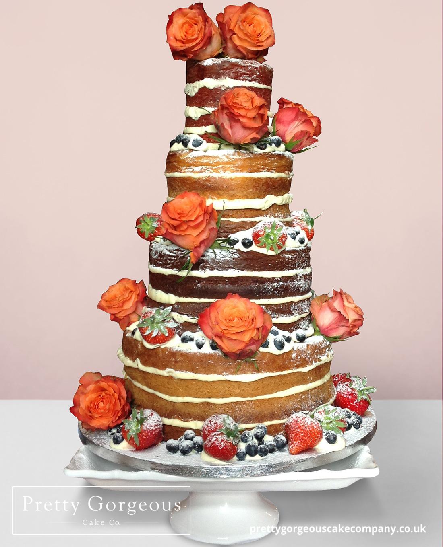 Naked Cake Roses