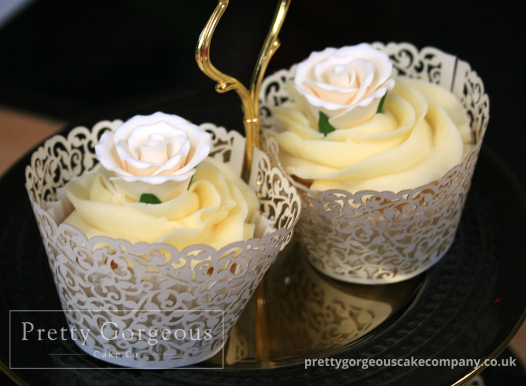 Flower Yellow icing Cupcake Delicious
