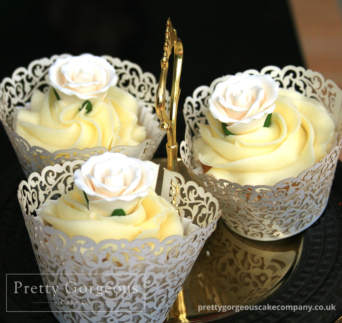 French Cupcakes Delicious White Flower