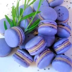 Lavender-and-honey-macaron