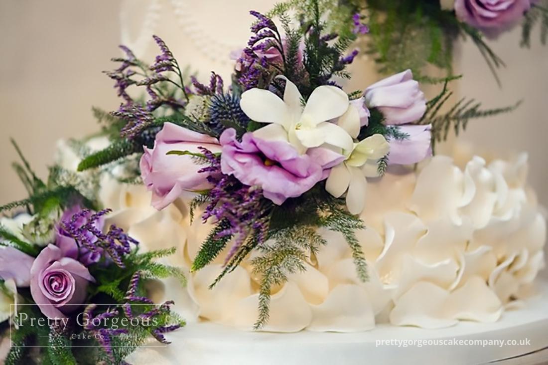 Cake detail, wedding cake, detail