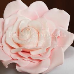 Cake detail, flower, pink, wedding cake