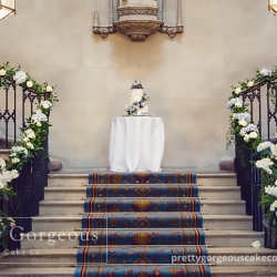 Staircase, wedding cake, photography