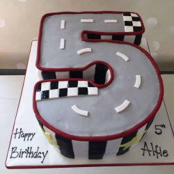 5 Year Old Road Cake