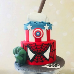 Spiderman Cake Captain America Thor Hulk